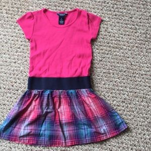 Pink and plaid dress